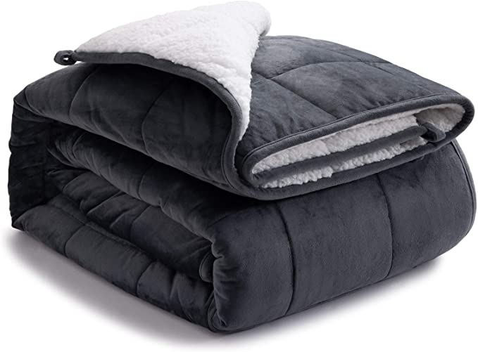 bedsure sherpa weighted blanket